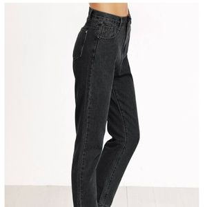 High Waist Cropped Mom Jeans